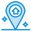 house, map, navigation icon