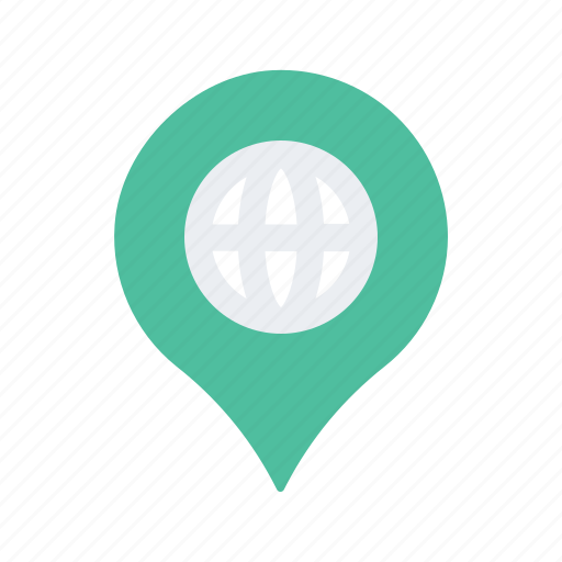 global, internatinal, location, map, navigate, navigation, pin icon