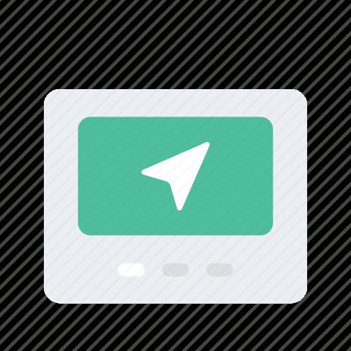 Direction, location, map, navigate, navigation, navigator icon - Download on Iconfinder