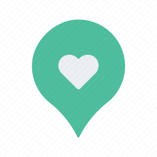 favourite, heart, location, map, navigate, navigation, pin icon