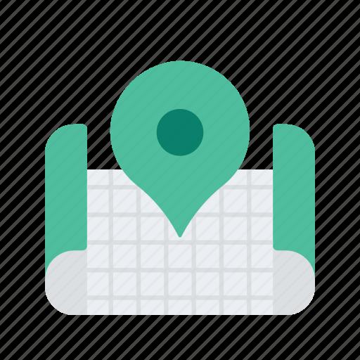 location, map, navigate, navigation, pointer icon