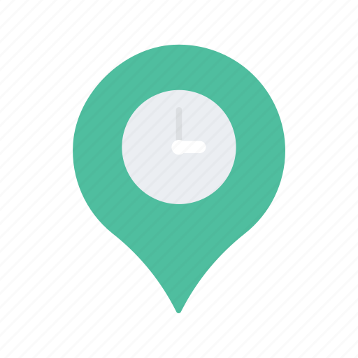 location, map, navigate, navigation, pin, time icon