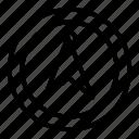 arrow, direction, location, navigation, pin, road, way icon