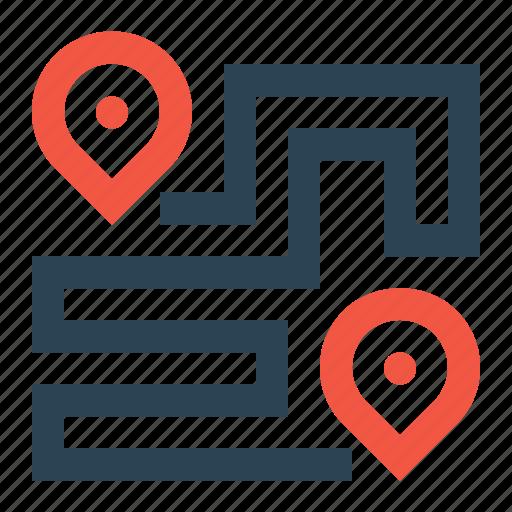 destination, direction, location, navigation, place icon