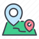navigation, pointer, location, track, pin, road, map