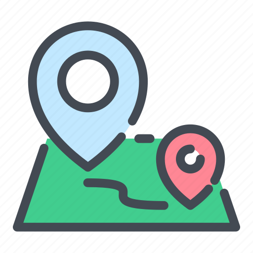 Location, map, navigation, pin, pointer, road, track icon - Download on Iconfinder