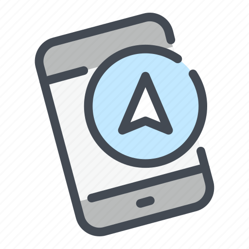 direction, gps, location, mobile, navigation, phone, smartphone icon