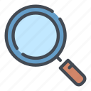 find, glass, loupe, magnifier, search, view, zoom