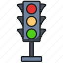 light, traffic, safety, road, direction