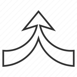 aggregate, combine, connect, connection, join arrow, unite, up direction icon