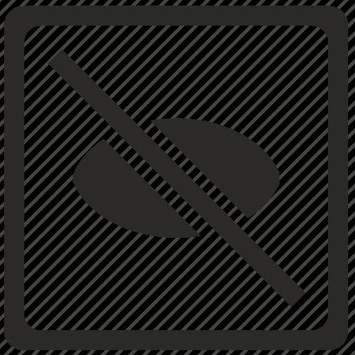 cancel, preview, ui, unvisible, view icon