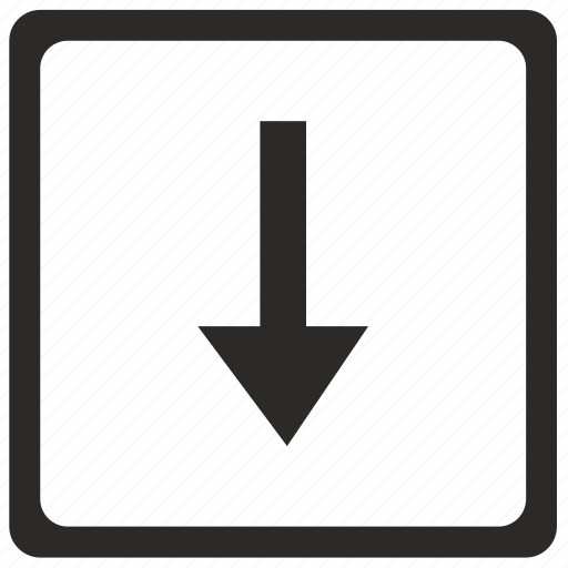 arrow, bottom, down, navigation, ui icon