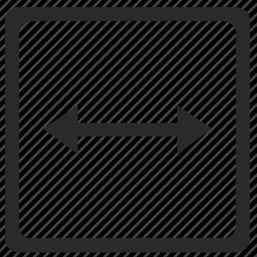 arrow, horizontal, ui, width icon