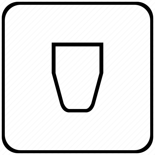 empty, form, glass, water icon