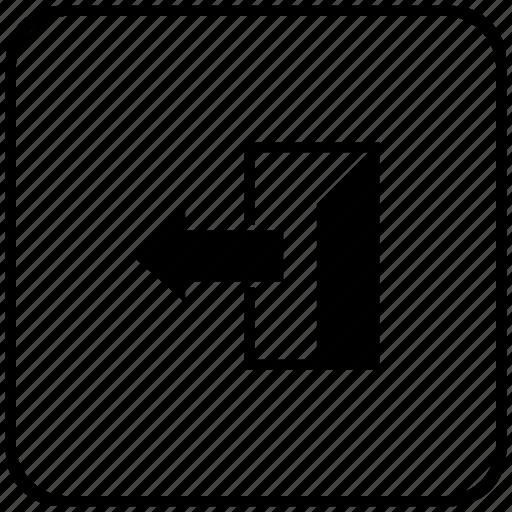 door, exit, form, way icon