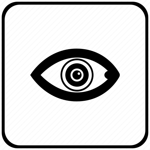 biometry, eye, eyeball, form, pupil icon