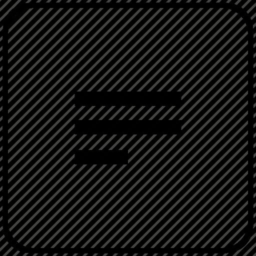 align, edit, form, left, text icon