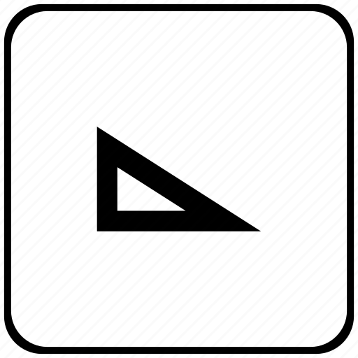 form, instrument, rubber, tool, triangle icon