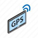 gps, internet, isometric, pc, tablet, technology, wi-fi icon