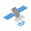 communication, global, isometric, satellite, science, space, telecommunication icon