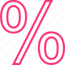 calculate, interest, percent, percentage, rate icon