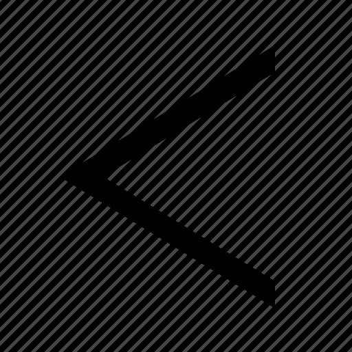 chevron, left icon