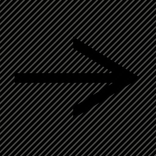arrow, narrow, right icon