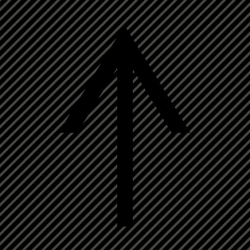 arrow, narrow, up icon