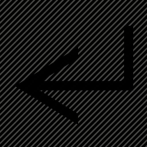 arrow, left, return icon
