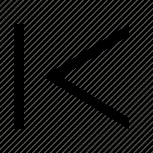 chevron, left, tab icon