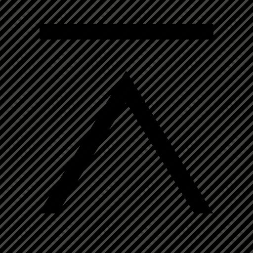 chevron, clean, linear, tab, up icon