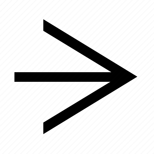 arrow, clean, linear, right, wide icon