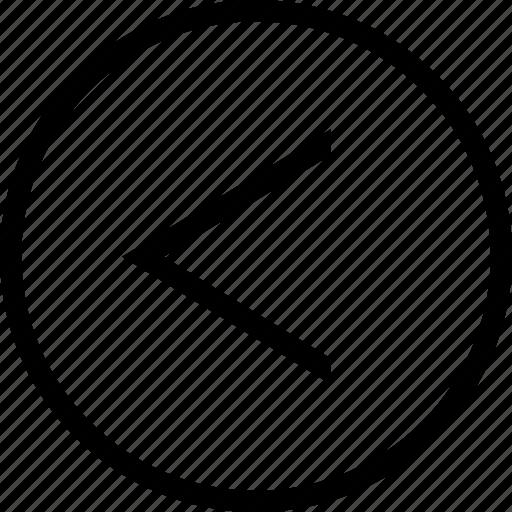 chevron, circle, left icon