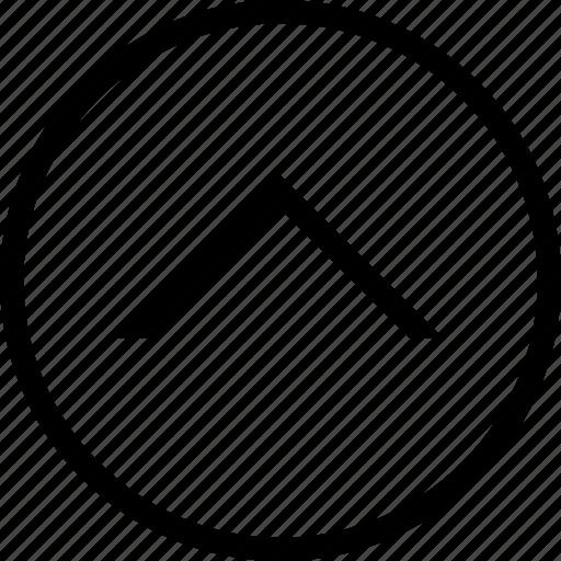 circle, drop, up icon