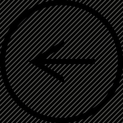 arrow, circle, left, narrow icon