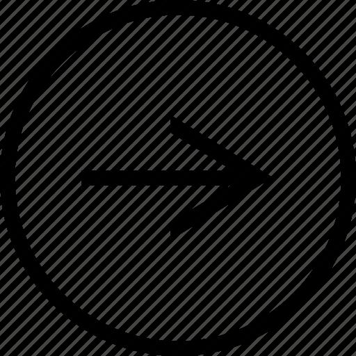 arrow, circle, narrow, right icon