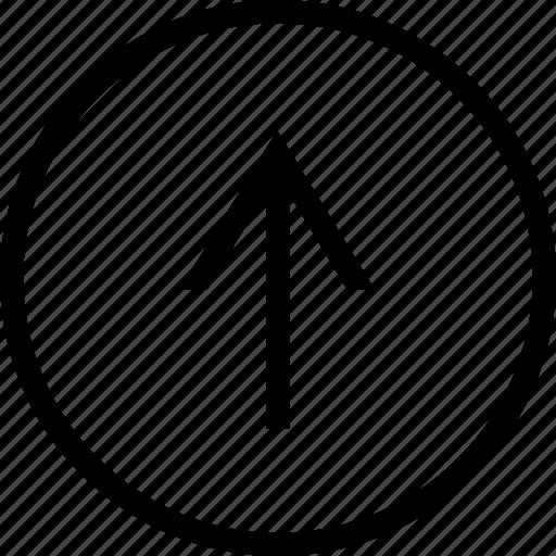 arrow, circle, narrow, up icon