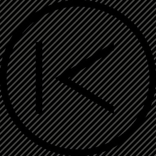 chevron, circle, left, tab icon