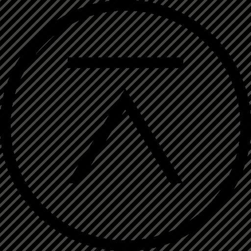 chevron, circle, tab, up icon