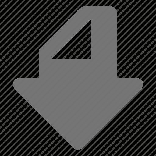 arrow, down, navigation icon