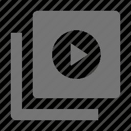 movie, navigation, play, video icon