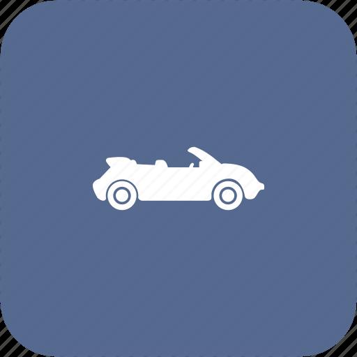 auto, cabrio, cabriolet, car icon