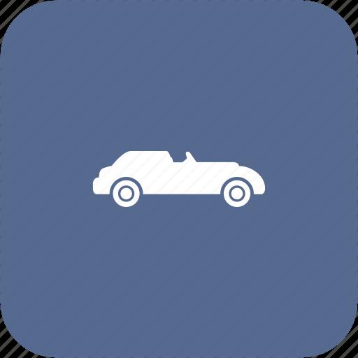 auto, automobile, cabrio, cabriolet, car icon