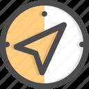 cardinal, cursor, direction, gps, navigation, navigator, north