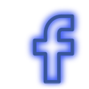 facebook, media, neon, set, social icon