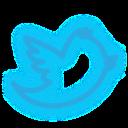 media, neon, set, social, twitter icon