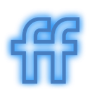 fiendfeed, media, neon, set, social icon