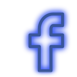facebook, media, neon, set, social icon