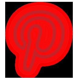 media, neon, pinterest, set, social icon
