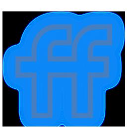 fiendfeed, media, neon, set, social icon